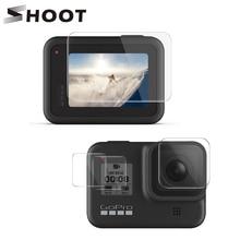SHOOT สำหรับ GoPro HERO 8 สีดำกระจกนิรภัยหน้าจอ LCD ป้องกันฟิล์มสำหรับ Go Pro HERO GO pro 8 กล้อง Access