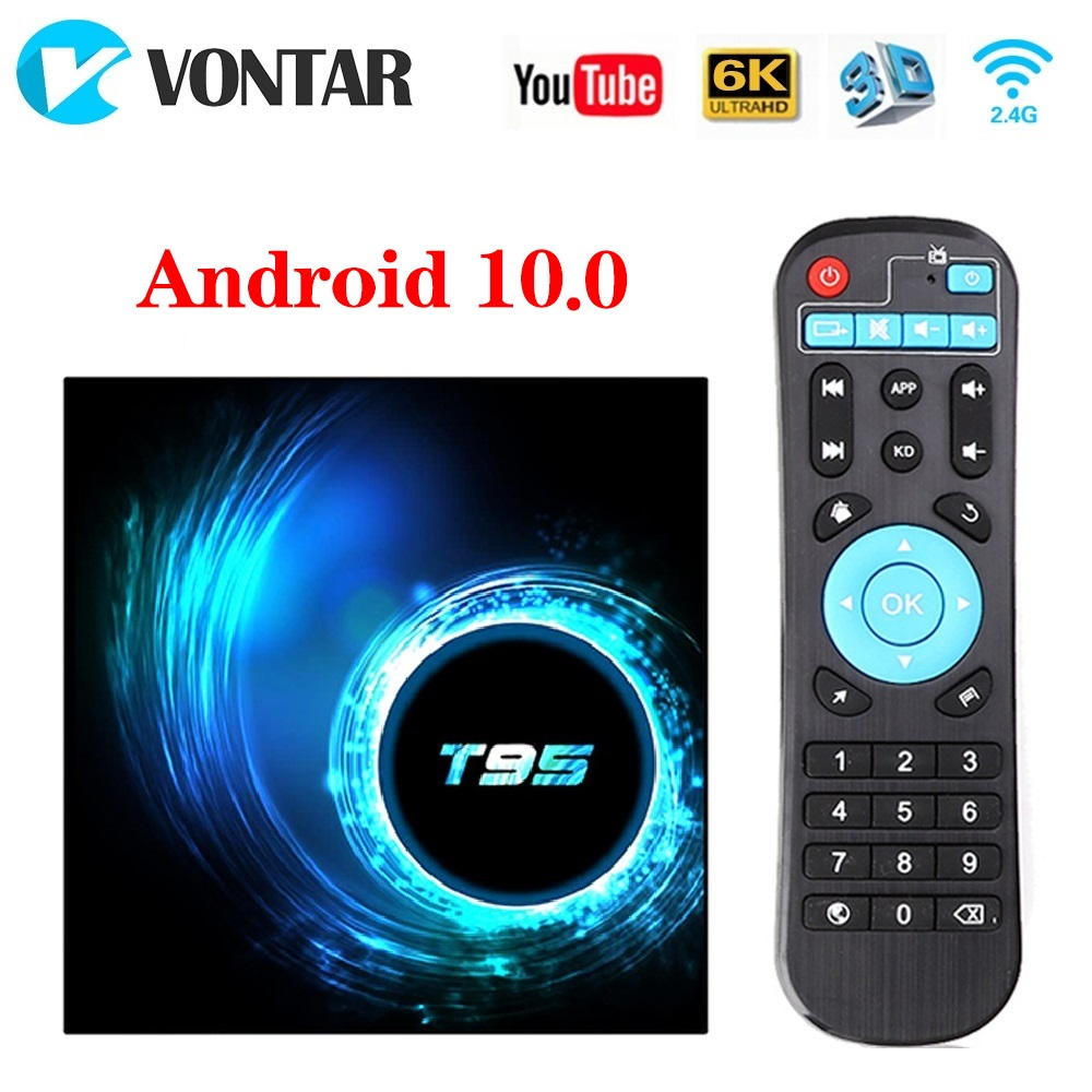 2020 VONTAR T95 TV Box Android 10 4GB 32GB 64GB Allwinner H616 Quad Core 1080P H.265 4K TVBOX Android 10.0 Set Top Box 2GB 16GB