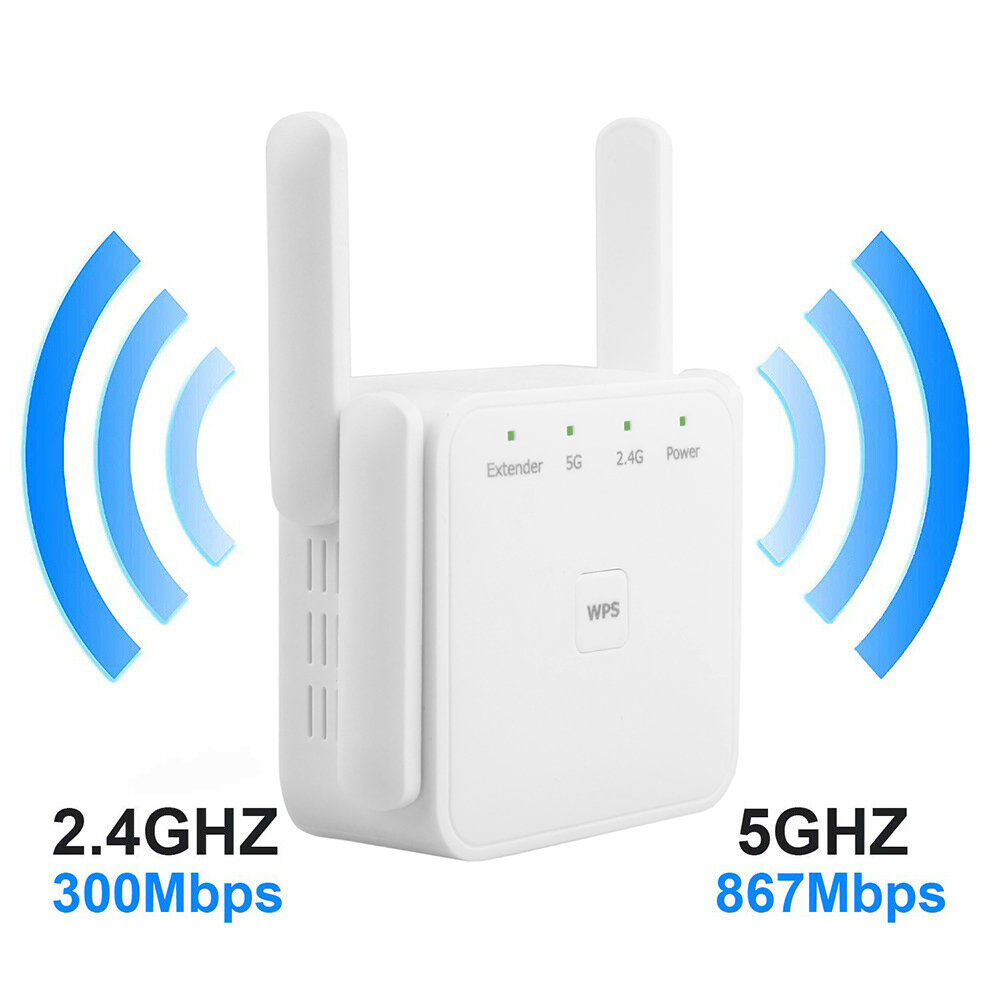 Wireless WiFi Repeater Extender 2.4G/ 5G WiFi Booster Wi Fi Amplifier Large Router Range Signal Repeator Wi-Fi Access Point