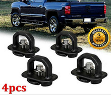 4 stuks Auto accessoires Tie Down Anker Truck Bed Side Muur Anker Pickup voor GMC Sierra Canyon Chevy Silverado Colorado 2007-2018(China)