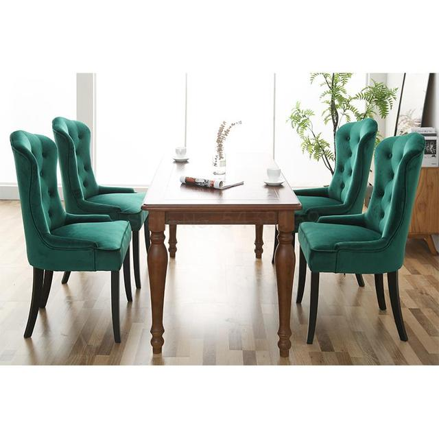 Solid Wood Cloth Dining Chair  3