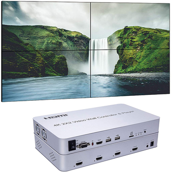 цена на Video Wall controller 2 x 2 video Wall Processor HDMI HDCP1.4 4K 30Hz SD card U disk  and  Mouse controlupport DVI or HDMI inpu