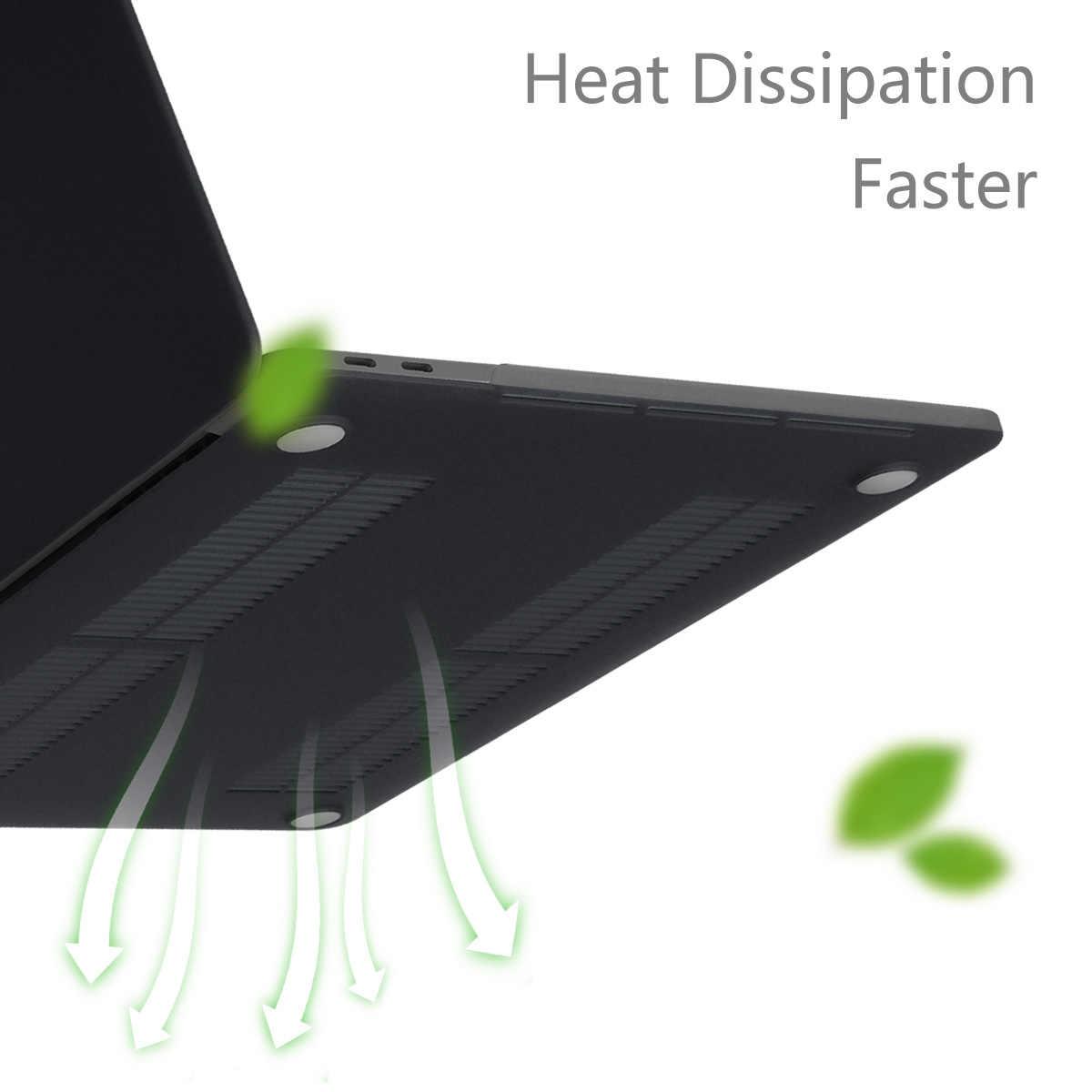 חדש מחשב נייד מקרה עבור אפל רשתית 11 12 13 15 16 mac ספר 15.4 13.3 אינץ עם מגע בר מזהה שרוול + מקלדת כיסוי