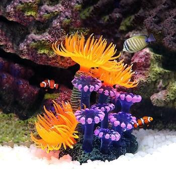 Artificial Coral Fish Tank Aquarium Simulation Coral Decoration Aquarium Backgrounds Plants Water Grass Ornament Accessories aquarium decoration silicone simulation artificial fish tank fake coral plant underwater aquatic sea ornament accessory d35
