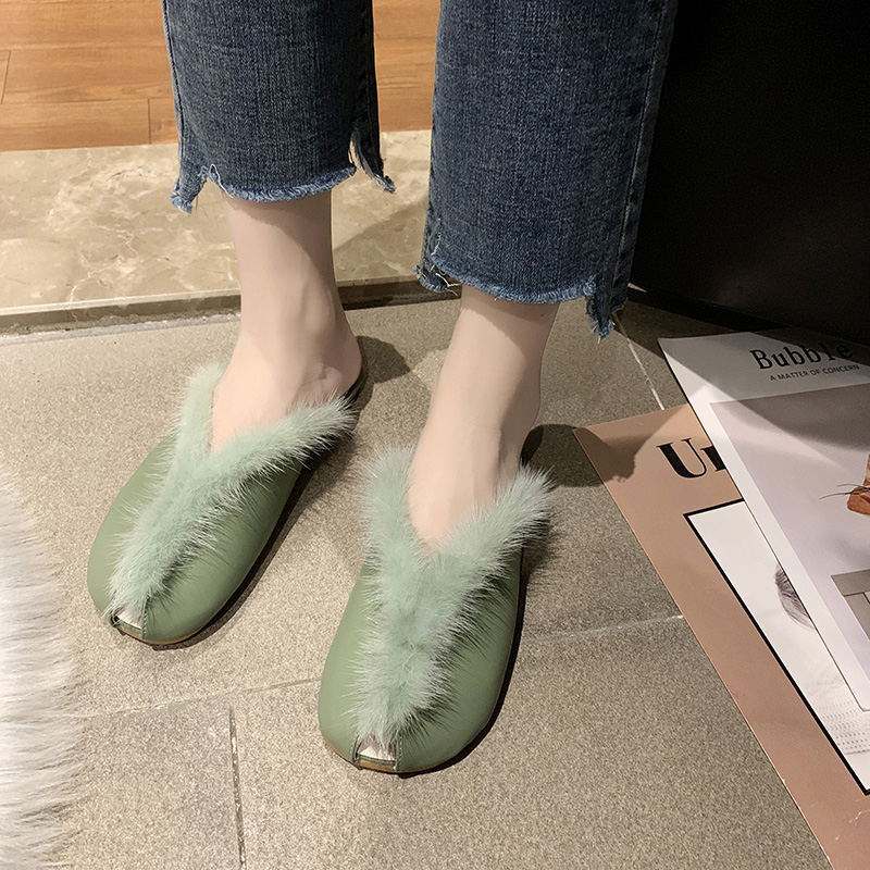 Loafers Fur Sneakers Women Comfortable Elegant Autumn Fashion Women's And Casual Low-Heels
