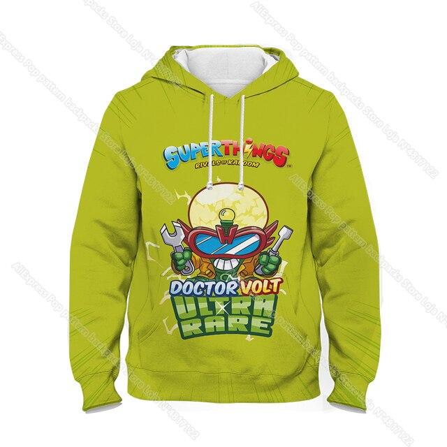 Children Super Zings Hoodie Boys Girls Cartoon 3D Printed Pullovers Kids Superzings Sweatshirt Harajuku Streetwear Spring Winter 4