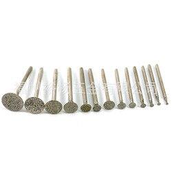 Diament stop głowica szlifująca 2.35 3mm uchwyt H igły z węglika krzemu spoiwa głowy Jade elektryczny szlifierka koła kart szlifowania z powrotem w Narzędzia pneumatyczne od Narzędzia na