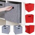 Большой Размеры складной войлочная корзина для хранения куб коробка для хранения одежды органайзер детские игрушки книги домашняя корзина...