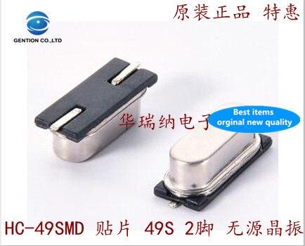 50pcs 100% New And Orginal HC-49SMD Passive Patch Crystal 49smd 2 Pin 8M 8MHZ 8.000MHZ SCTF