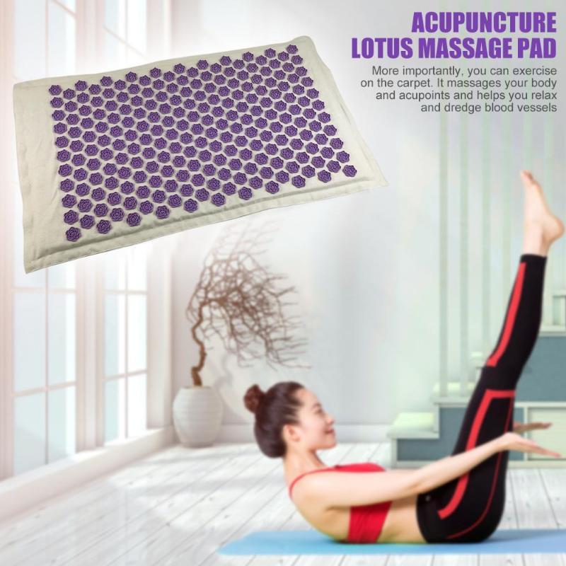 Acupressure Massage Mat of Natural Linen Cotton with Pillow set for Reflexology Trigger and Point Massage 4