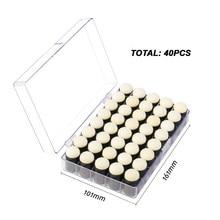 40pc mezcla herramientas esponja Dauber con pantalla caja de almacenamiento dibujo pinceles para pintar para Scrapbooking tarjeta hecha a mano