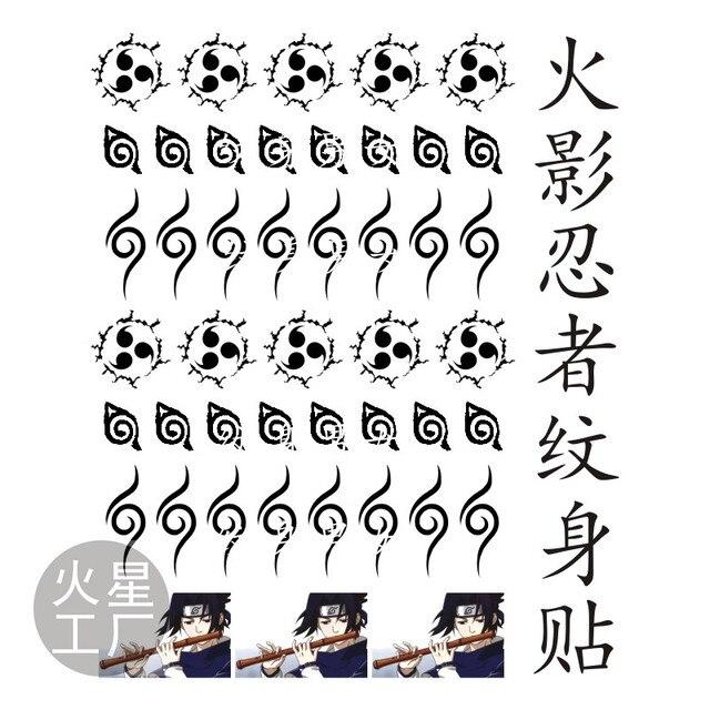 Naruto Uzumaki Uchiha Sasuke Itachi Sharingan Temporary Transfer Waterproof Tattoo Sticker Cosplay Accessory Props Body Art Costume Props Aliexpress