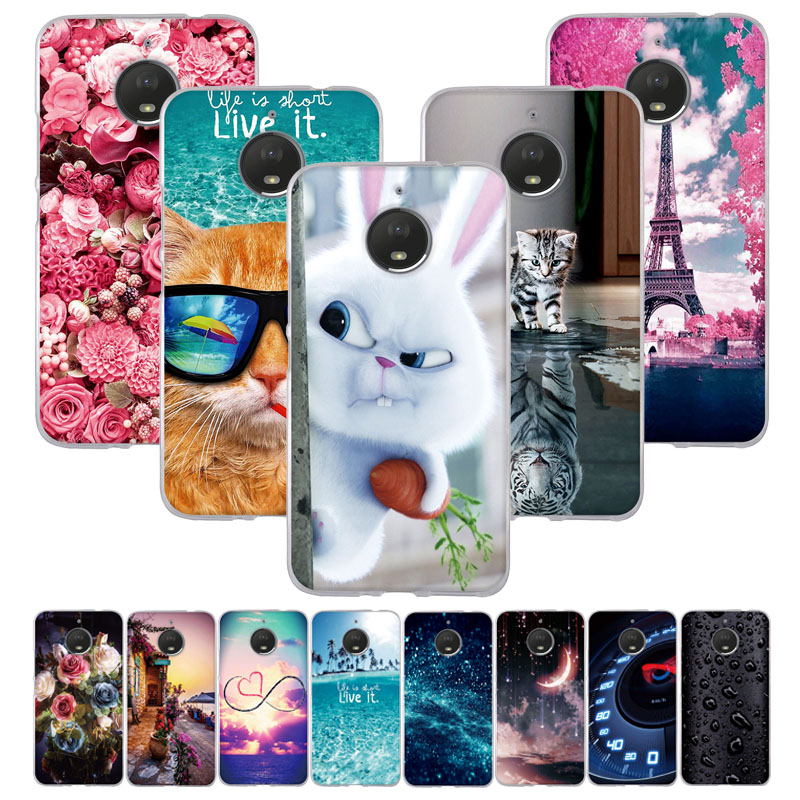 "For Motorola Moto E4 Plus Case 5.5"" Silicon Soft TPU Cover For Moto E4 Plus Case Cover For Motorola Moto E Plus (4th Gen.) Coque"