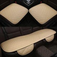 Araba koltuğu kapakları otomobiller emniyet koruma yastığı tam Set PU deri evrensel oto iç aksesuarları Mat Pad araba styling