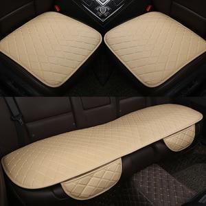 Image 1 - Araba koltuğu kapakları otomobiller emniyet koruma yastığı tam Set PU deri evrensel oto iç aksesuarları Mat Pad araba styling
