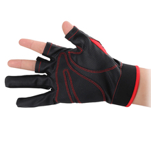 цена на Outdoors Sports Gloves 3 Half-Finger Anti-Slip Durable PU Breathable Gloves For Fishing Hunting Waterproof Flexible New S20