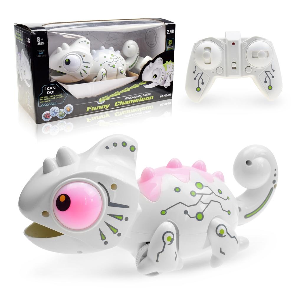 rctown controle remoto camaleao 2 4ghz animal de estimacao inteligente brinquedos robo para criancas presente aniversario