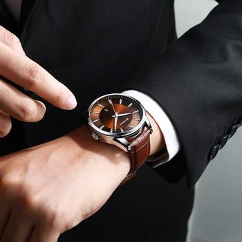 CURREN 8365 Top Brand Luxury Mens Watches Male Clocks Date Sport Military Clock Leather Strap Quartz Business Men Watch