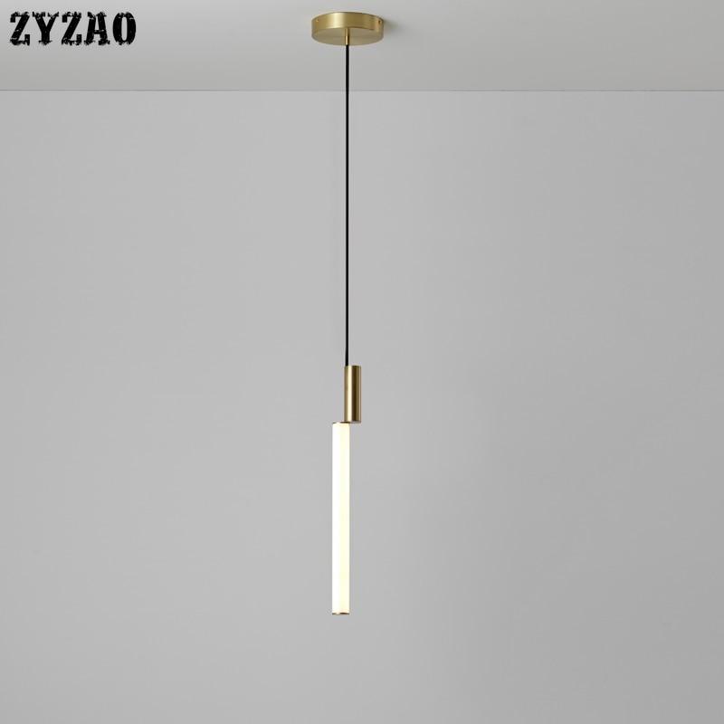 Nordic Simple Creative Bar Restaurant Led Hanglamp Bedroom Bedside Lamp Cafe Living Room Clothing Store Long Strip Pendant Light