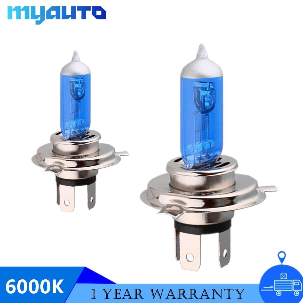 2x Headlamp Halogen Power Xenon Headlight Bulb H1 H3 H11 9005 9006 55W 65W 100W