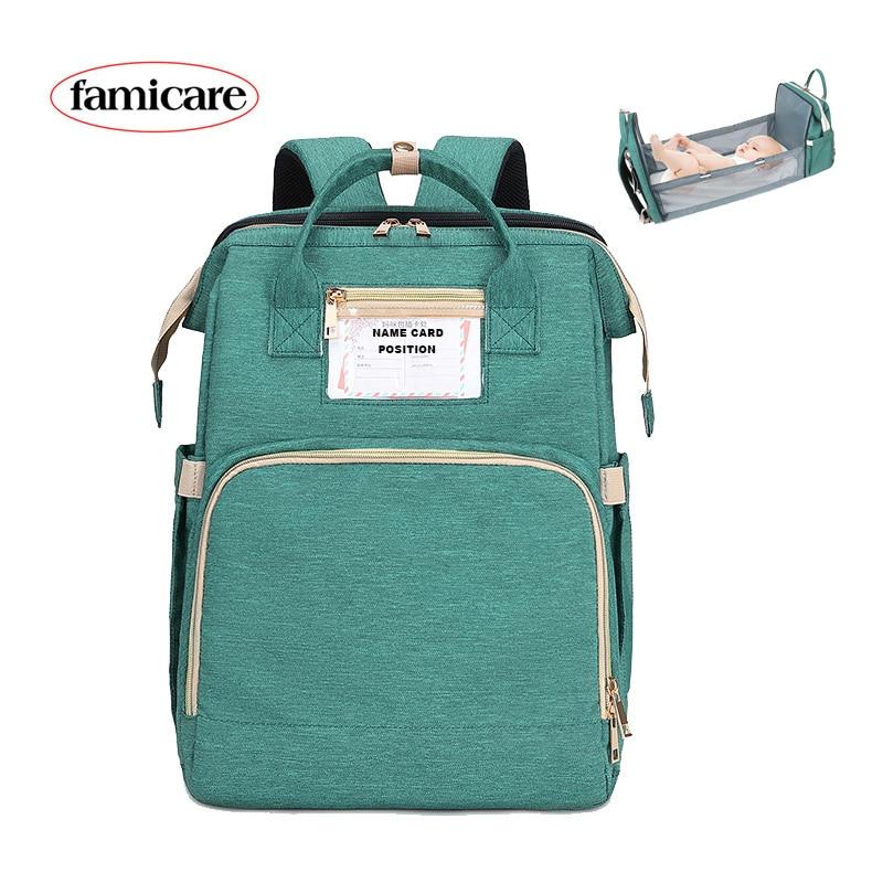 Diaper Bag Moms And Dads Backpack Multifunctional Baby Bed Bags Maternity Nursing Handbag  Stroller Bag Drop Ship