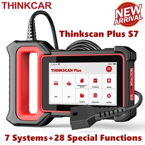 Image 1 - THINKCAR Thinkscan Plus S7 OBD2 Scanner TPMS Oil DPF Throttle Reset Airbag  BCM ECM TCM IC AC ABS System Car Diagnosis Scanner