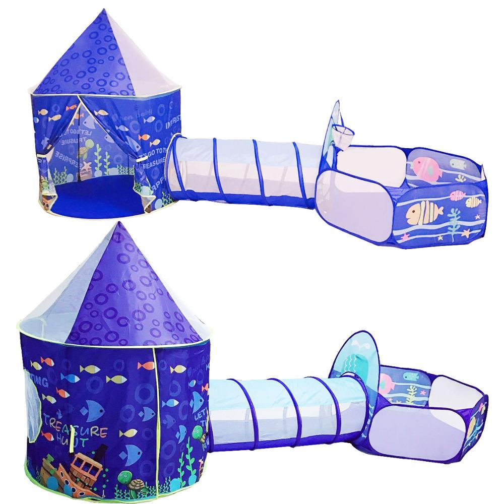 Toy Tent Children Tents Kids Crawling Tunnel Play Tent House Ball Pit Pool Tent For Children Toy Ball Pool Ocean Ball Holder Set