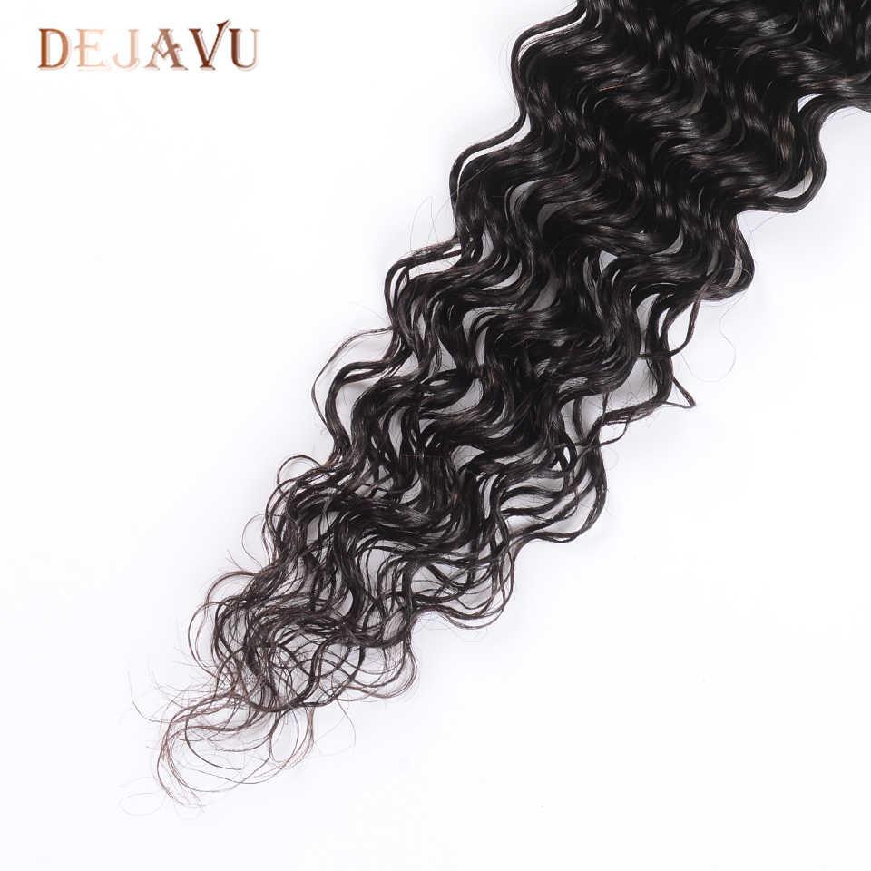 Dejabu Malasia pelo humano de onda profunda 4 paquetes de extensiones de cabello de Color Natural no Remy