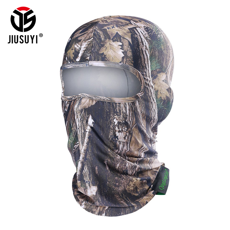 Breathable Balaclava Cap Military Realtree Camouflage Tactical Airsoft Paintball Bicycle Army Hat Helmet Liner Face Mask   Beanies