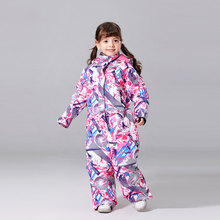2019 New Ski Suit Girls Winter Ski Jacket and Pant Children Windproof Waterproof Super Warm Snow Skiing And Snowboarding Clothes cheap MUTUSNOW NYLON Polyester spandex Microfiber COTTON Hooded Fits true to size take your normal size 2019 MTRT Jackets Anti-Wrinkle
