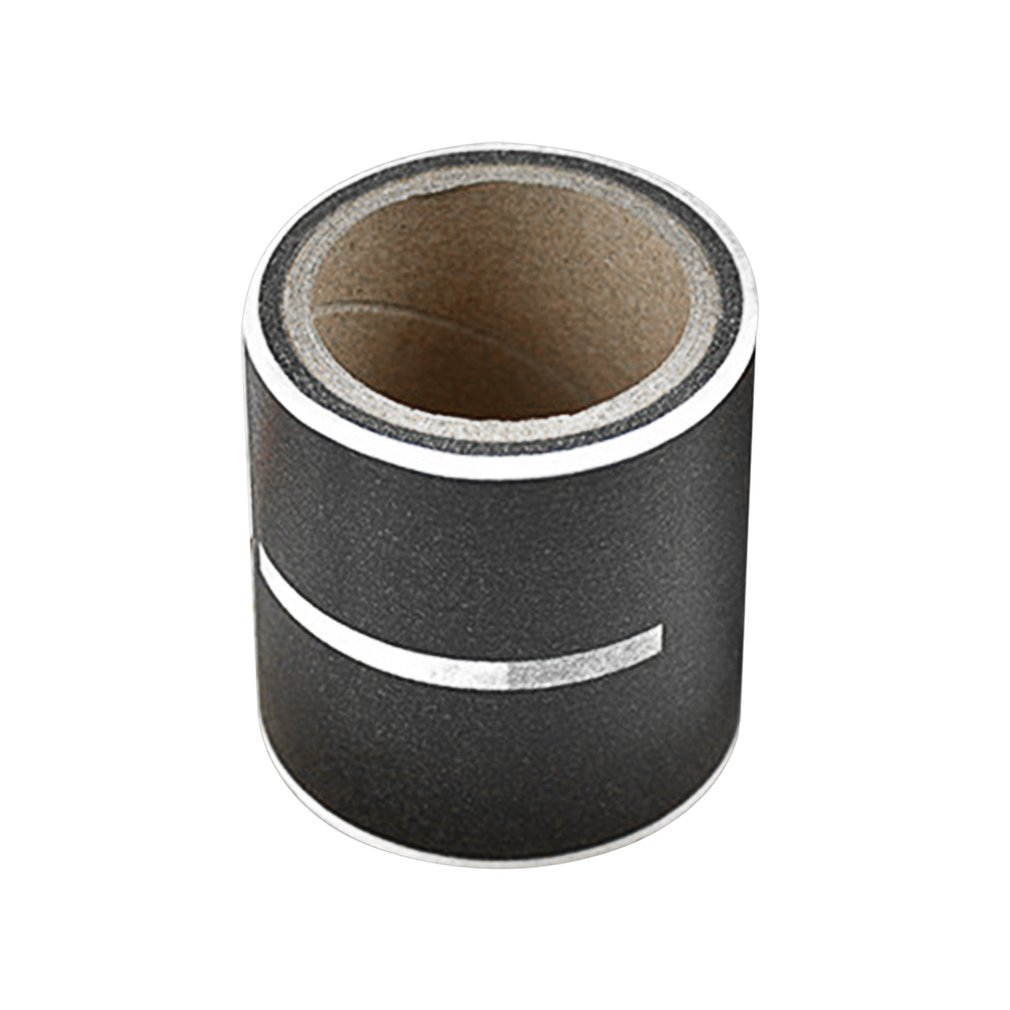 Road Track Pattern Office Tape Hand Book Washi Tape DIY Minimalist Black White Textured Decorative Adhesive Tape School Supplies