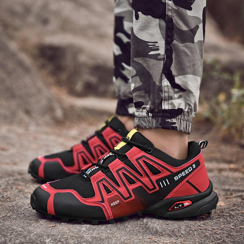 2019 nuevos Zapatos deportivos al aire libre, Zapatillas para Hombre y mujer, Zapatos para correr de cuero, antideslizantes, para caminar, para Hombre