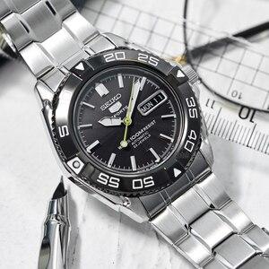 Image 4 - seiko watch men 5 automatic watch Luxury Brand Waterproof Sport Wrist Watch Date mens watches diving watch relogio masculin snzb