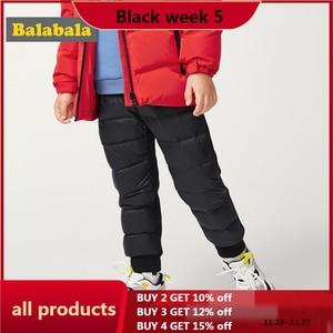 Balabala Children pants autumn and winter 2019 new trousers baby children's casual pants plus velvet down pants