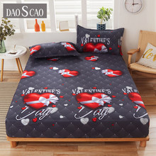 1 Piece 100% high quality polyester active printed fitted sheet with elastic mattress cover in various sizes(no pillowcases)