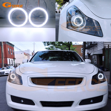 Excellent COB led angel eyes halo rings Ultra bright Day Light For INFINITI G35 G37 2007 2008 2009 XENON HEADLIGHT