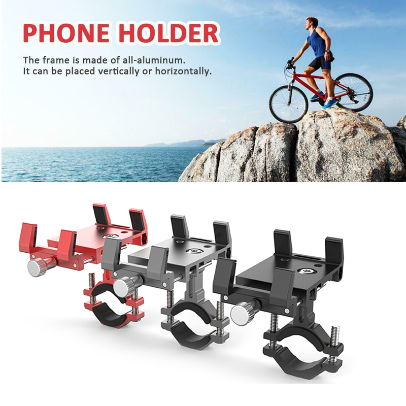 Aluminum Bracket Phone Holder For Bicycle Phone Motorcycle Handlebar Mount For 3.5-6.2