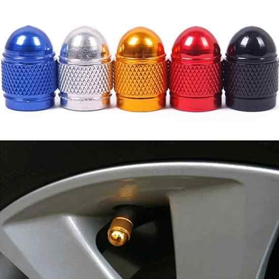 العالمي 4 قطعة الجذعية الإطارات مجموعة أغطية بلاستيك متعددة الألوان والأحجام الألومنيوم سيارة عجلة غطاء ضغط الهواء قذيفة غطاء غبار ل دراجة نارية سيارة