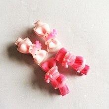 1 Pcs/lot Cute Cap Chiffon Bowknot Hair Clips Girls Ribbon Bows Kids Barrette Hairpin Accessories Child Ornaments Hairclip
