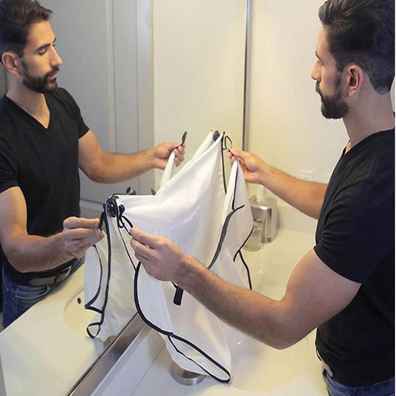Shaving Cloth Men Haircut Storage Waterproof Floral Cloth Household Cleaning Bathroom Accessories Male Beard Storage Shelves