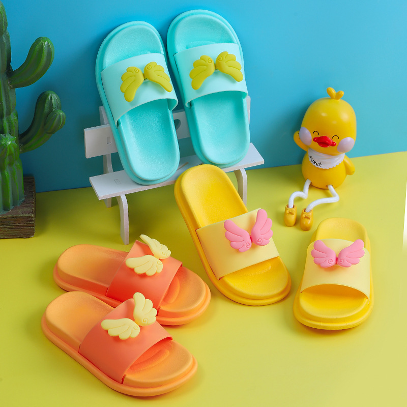2020 New Cute Swing Pattern Children's Slippers Kids Indoor Slippers Girls Home Non-slip Baby Shoes