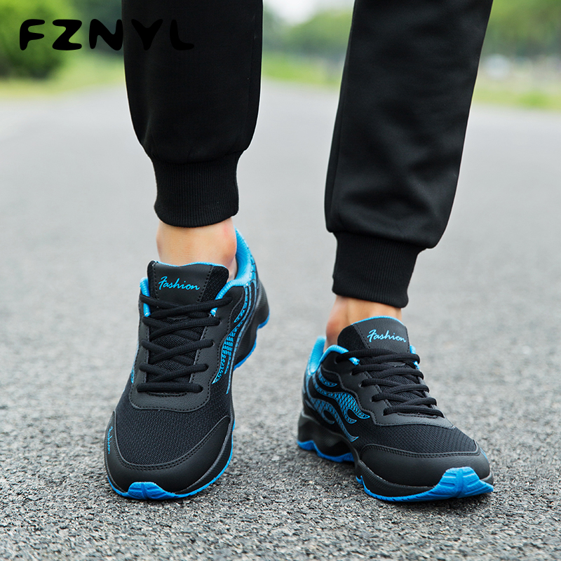 Buy FZNYL 2019 Fashion Mens Shoes Mesh Breathable Casual Shoes Male Low Tops Wear Resistant Sneakers Big Size 38-45