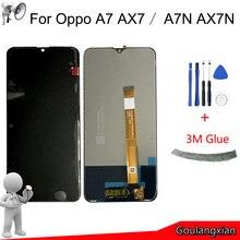 """6.2 """"AAA الأصلي LCD ل Oppo A7 CPH1901 AX7 شاشة الكريستال السائل مجموعة المحولات الرقمية لشاشة تعمل بلمس ل Oppo A7N AX7N lcd استبدال"""