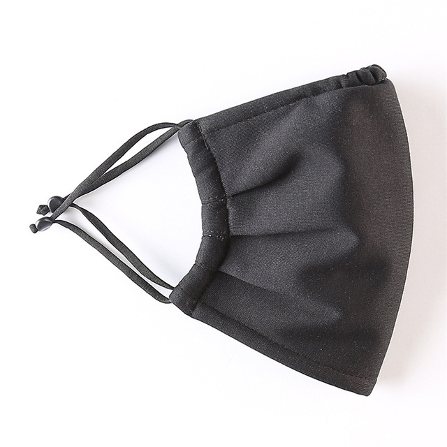 Cotton Anti-dust Mask Flu Face Mask Unisex PM2.5 Washable Reusable Anti Haze Mouth Mask breathable Warm Mask Black Mask FFP2 4