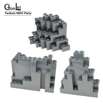 1-10 шт MOC горный кирпич рок панель прямоугольная 4x10x6 строительные блоки кирпичная часть DIY Игрушки совместимы с 6082 6083