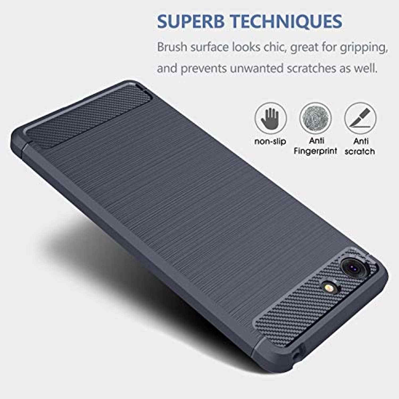 פחמן סיבי שריון TPU סיליקון מקרה עבור Sony XZ4 קומפקטי XZ3 XZ2 XZ1 XA3 Ultra XA2 XA1 בתוספת Xperia 1 2 10 20 כיסוי מקרי טלפון