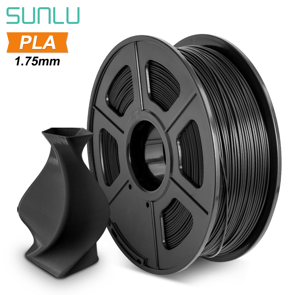 SUNLU PLA Filament 1 75mm 1KG With Spool Plastic PLA 3D Printer Filament Good Toughness Materials