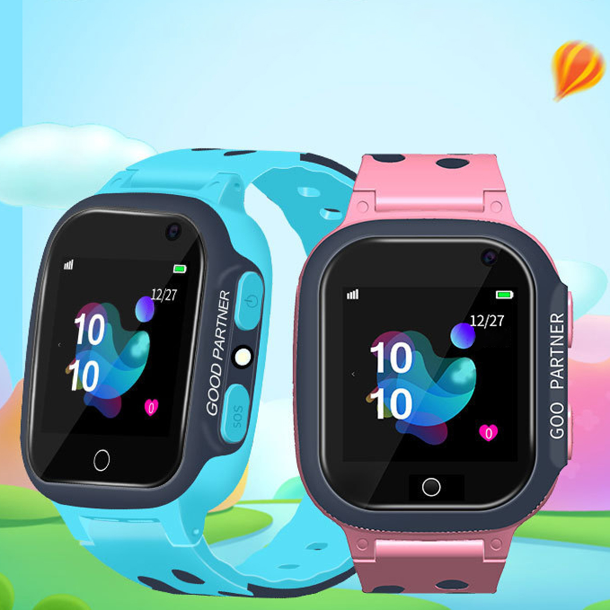 Puseky GPS Child Smart Watch Phone Position Children Watch 1.44inch Color Touch Screen WIFI SOS Smart Baby Watch GPS Watch