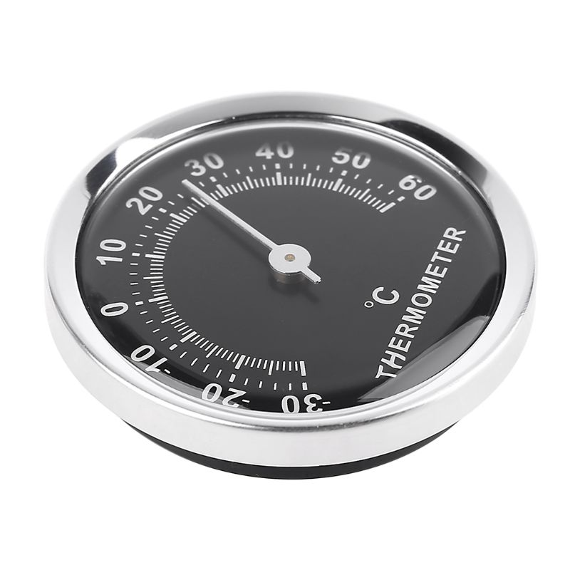 OOTDTY Mini 58mm Car Thermometer Mechanical Analog Temperature Gauge With Paste Sticker A5YD