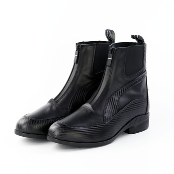 Fashion New Mens Boots Black Leather Shoes Zipper Solid Color Punk Ankle Boots Male Shoes Spring Anutumn Work Casual Boots